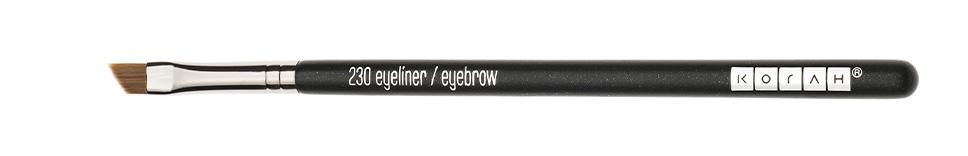 Il pennello makeup occhi a forma obliqua per applicare l'eyeliner e definire le sopracciglia